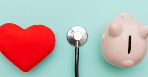Geneeskunde apparatuur dokter stethodcoop spaarvarken